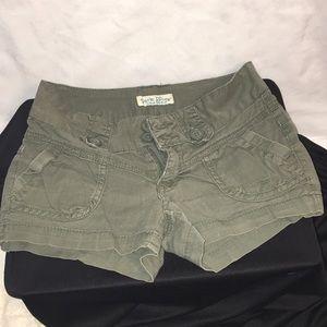 2 for $10 Paris Blues cute green shorts, size 0